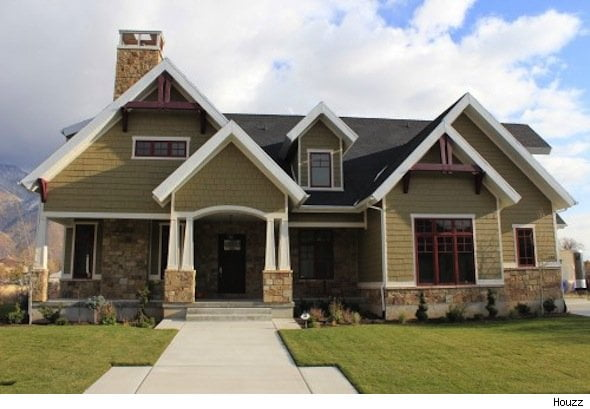 Arts and crafts architectural style simple forms materials for Craftsman architectural style