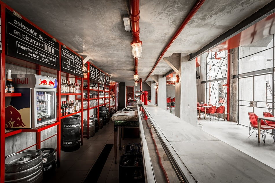 Vintage Industrial Style Interior Design Of Brewery In