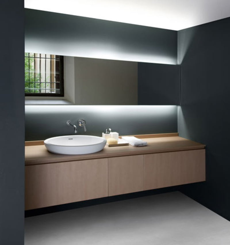 Bath Vanity Lighting Design : Seductive Bathroom Vanity With Lights Design Ideas