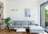 White Color Theme Modern Apartment Decorating Ideas for ...