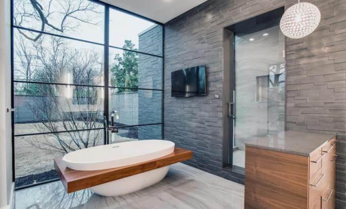 4 Walls Made Stunning With Basalt Tiles Kafka Granite Llc