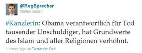 obama osama German government: Obama responsible for thousands of deaths