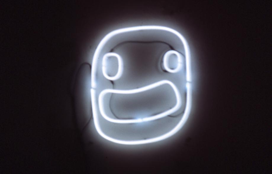 1996 bello neon scultura neon per la galleria l'attivo roma