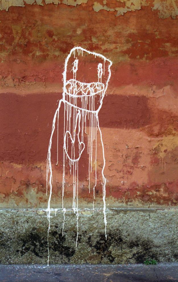 5- 1992  cane spruzzino disegni sui muri della città 2