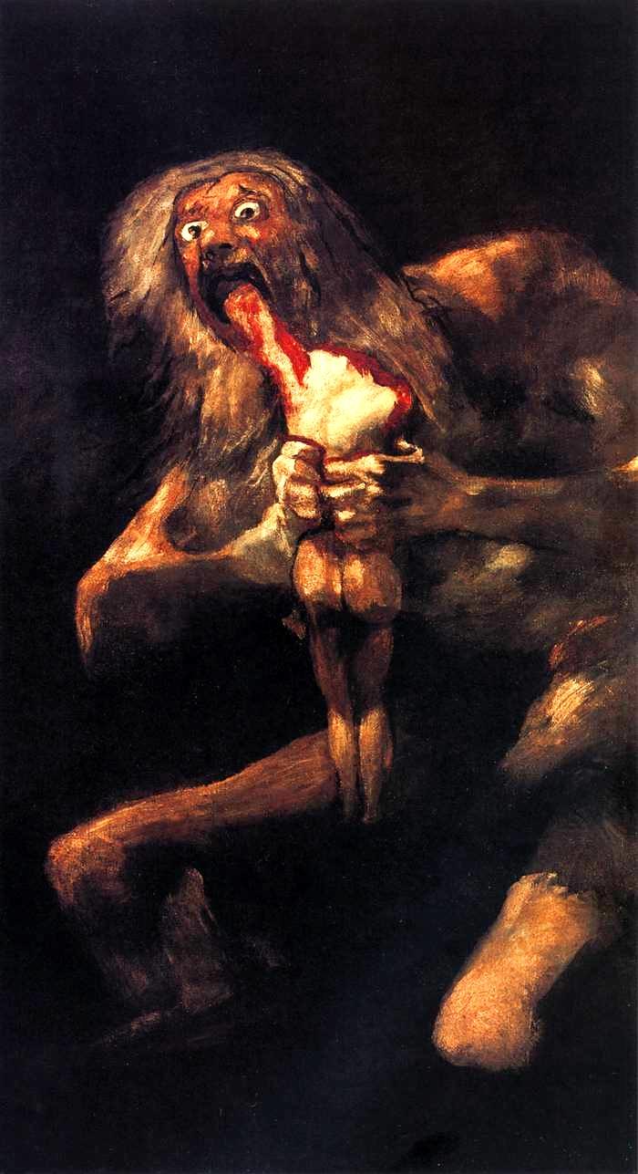 1821-1823 Crono Divora I Suoi Figli Francisco Goya