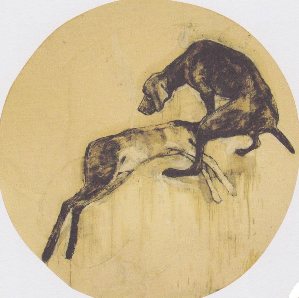 Stefano Ricci, Jette e il cerbiatto morto sotto la Dooglasia nella foresta di Quilow, il 18 febbraio, 2010