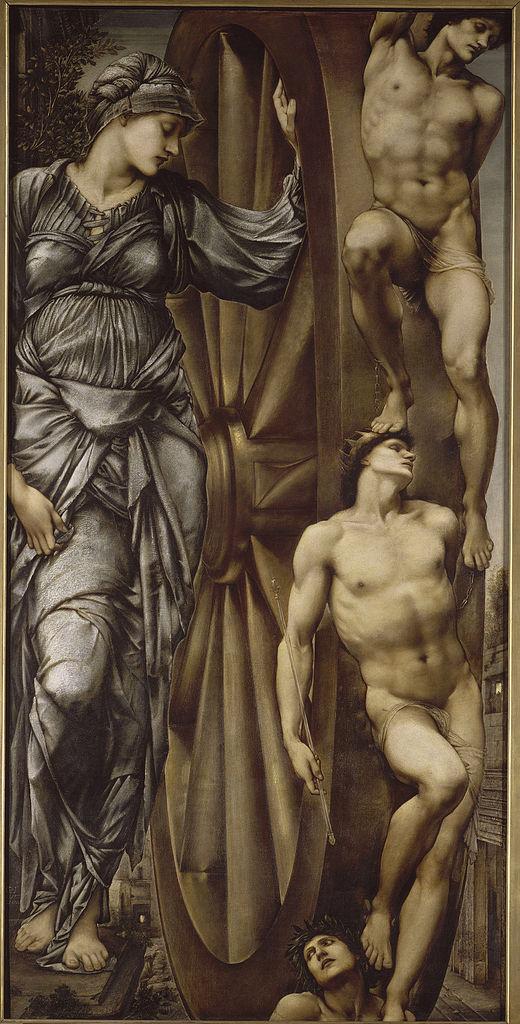 Edward Burne-Jones, La Ruota della Fortuna, 1863.