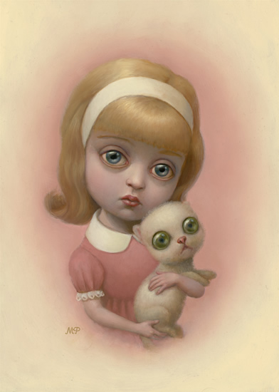 marion peck girl with a kitten