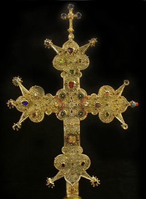 croce-santa, reliquiario del XIII secoloto-a
