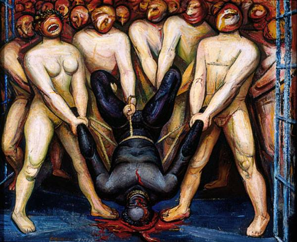 Cain in the United States, a mural by David Alfaro Siqueiros