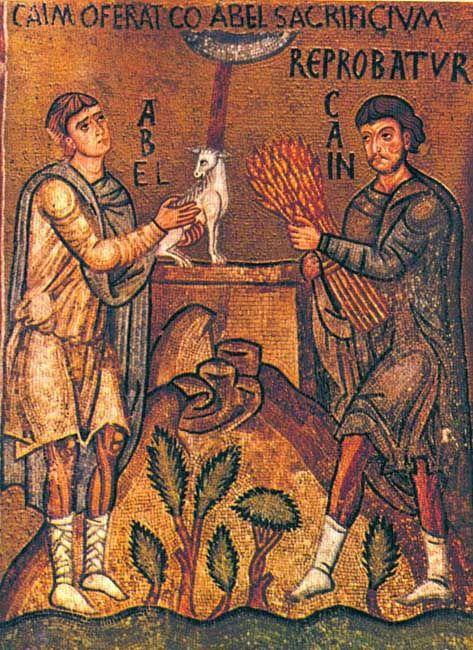Caino e Abele, Cappella Palatina, Palermo, XII secolo
