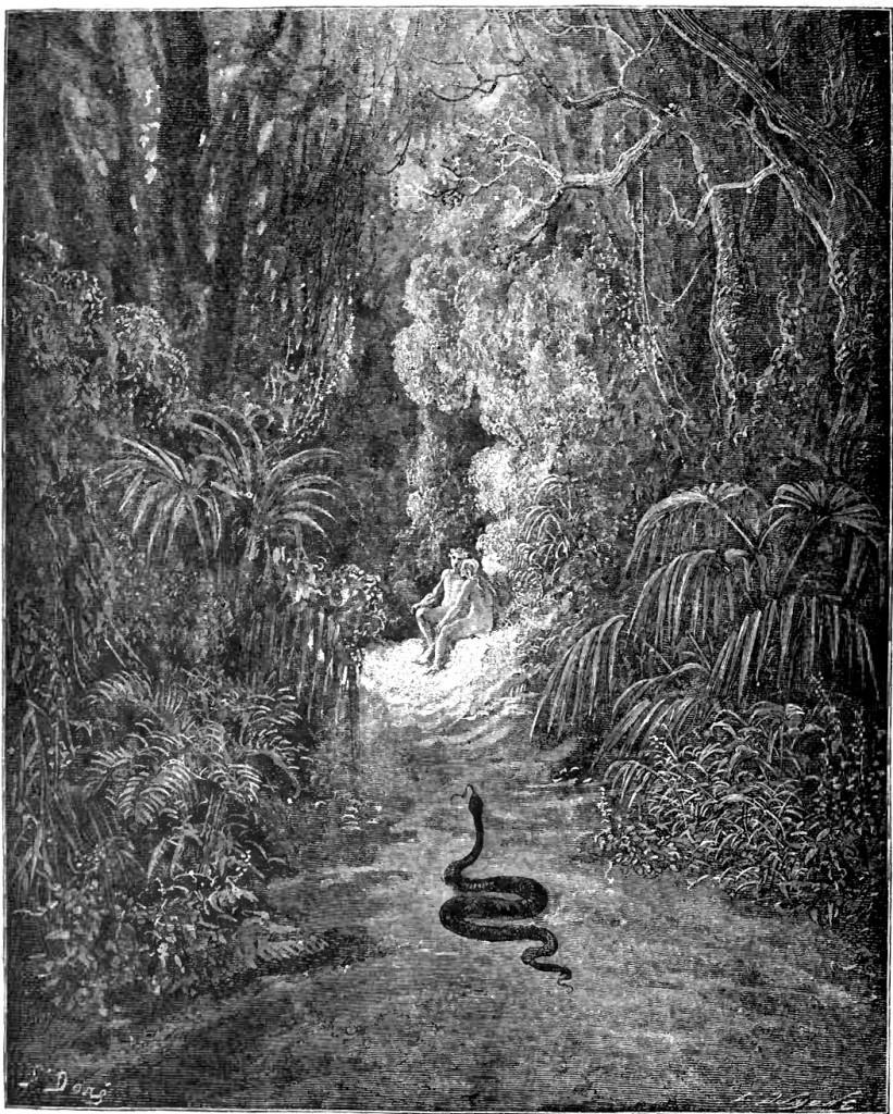 Gustave Doré, Il serpente va verso Adamo ed Eva