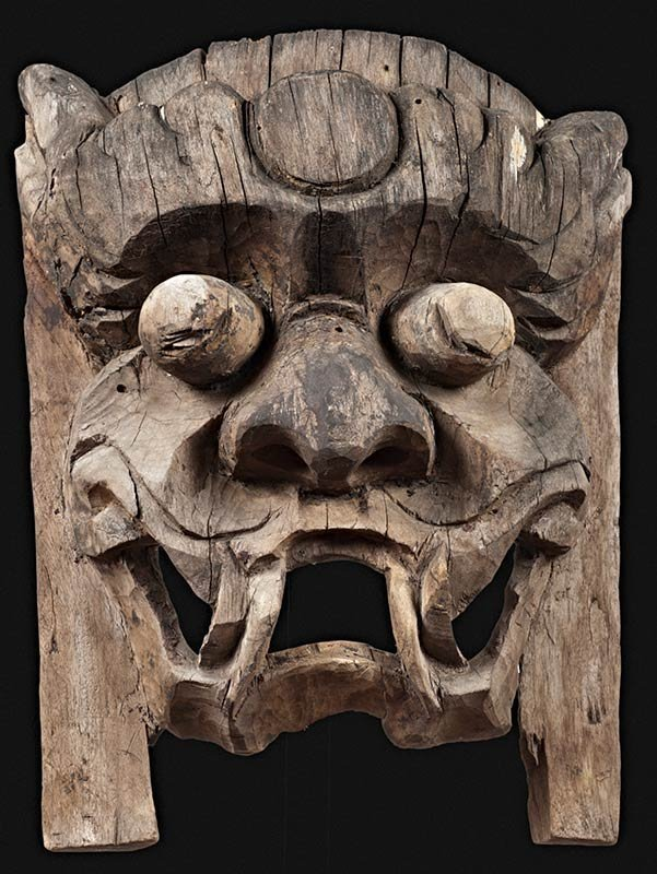 antique mask of Kaishan