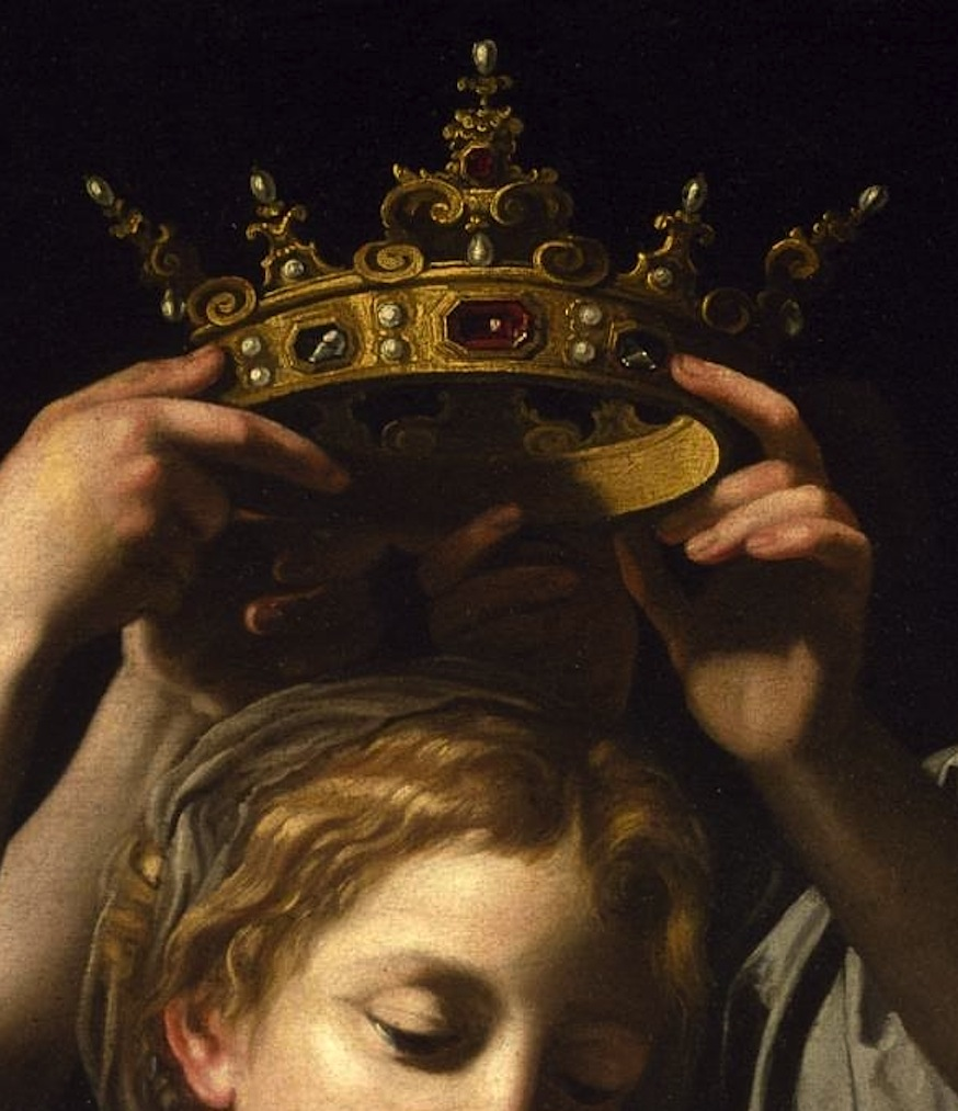 Bartolomeo Cavarozzi, Virgin and Child with Angels (detail), c.1620