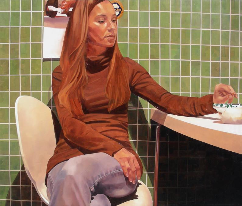 Massimiliano Zaffino , Valentina - 2007 - olio su tela - cm 130 x 110