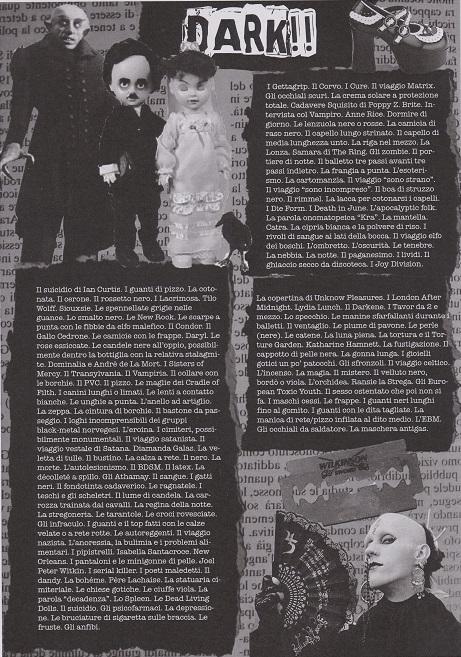 Unknown Pleasures n. zero, Dark!!, grafiche Francesca De Paolis