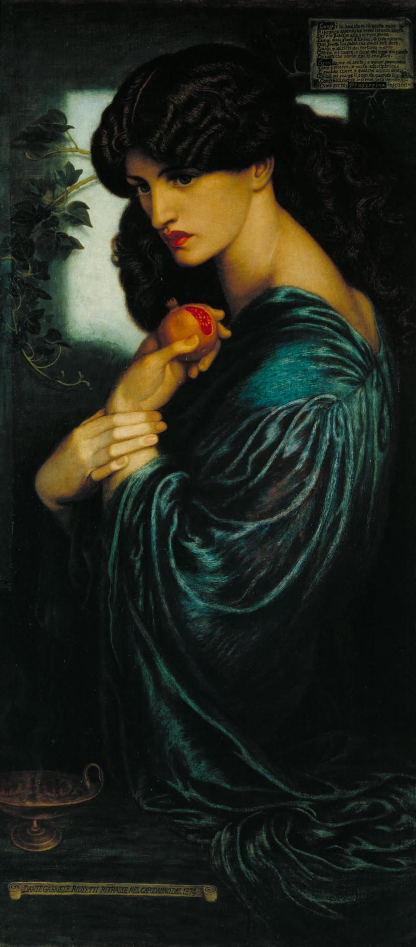 Dante Gabriel Rossetti. Proserpine, 1874
