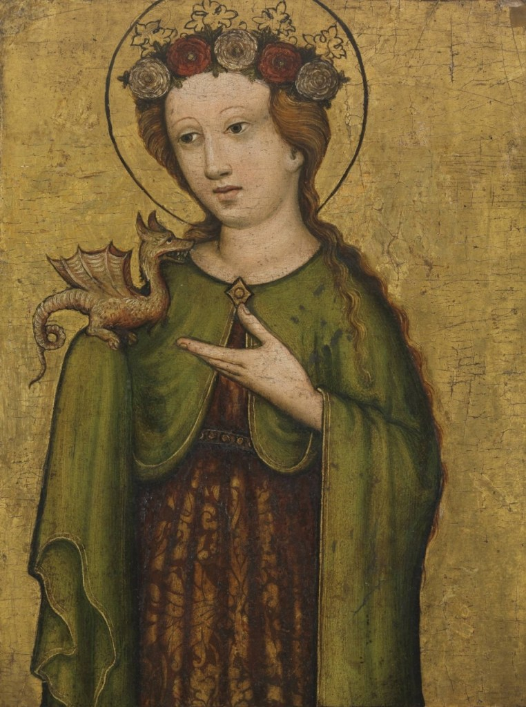 santa margherita, 1450 ca, artista sconosciuto