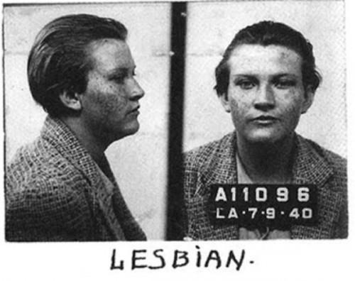 lesbian mugshot