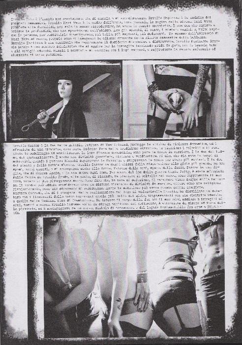 Fanzine Unkown Pleasures, numero uno, Mademoiselle Erzulie, grafiche Valentina Mangieri, direz. art. LST, 3