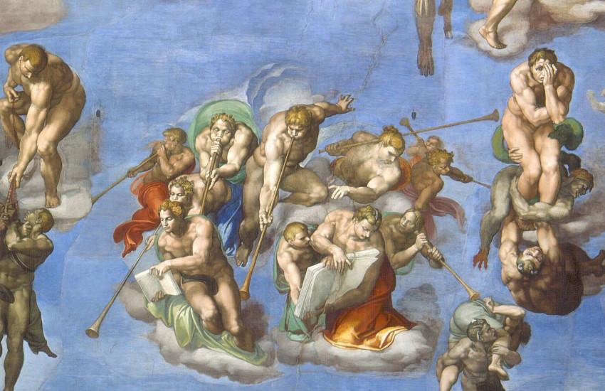Michelangelo, giudizio-universale-seconda-fascia, 1536-1541