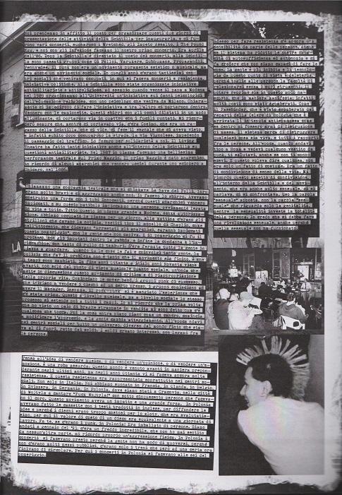 Fanzine Unknown Pleasures numero uno, Tu Quoque Punk - Enrico grafiche Valentina Mangieri, direz.artistica LST.2