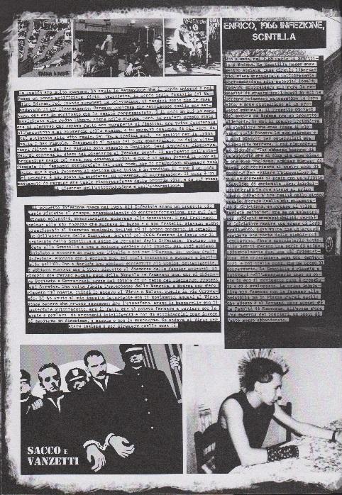 Fanzine Unknown Pleasures numero uno, Tu Quoque Punk - Enrico grafiche Valentina Mangieri, direz.artistica LST