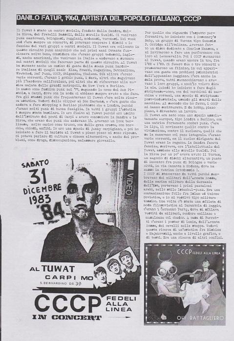 Fanzine Unknown Pleasures numero uno, Tu Quoque Punk - Fatur, grafiche Valentina Mangieri, direz.artistica LST