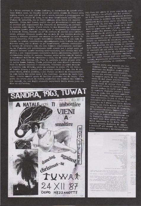 Fanzine Unknown Pleasures numero uno, Tu Quoque Punk - Sandra Tuwat1, grafiche Valentina Mangieri, direz.artistica LST