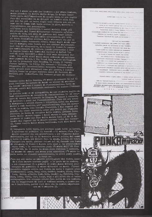 Fanzine Unknown Pleasures numero uno, Tu Quoque Punk - Sandra Tuwat2, grafiche Valentina Mangieri, direz.artistica LST