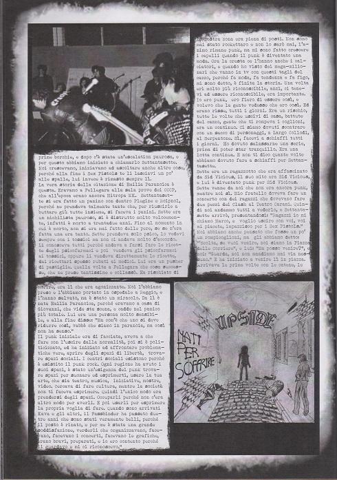 Fanzine Unknown Pleasures numero uno, Tu Quoque Punk - Tritone5, grafiche Valentina Mangieri, direz.artistica LST