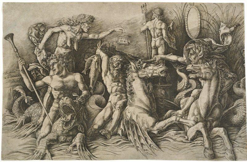 Andrea Mantegna, Battaglia fra dei marini, 1470