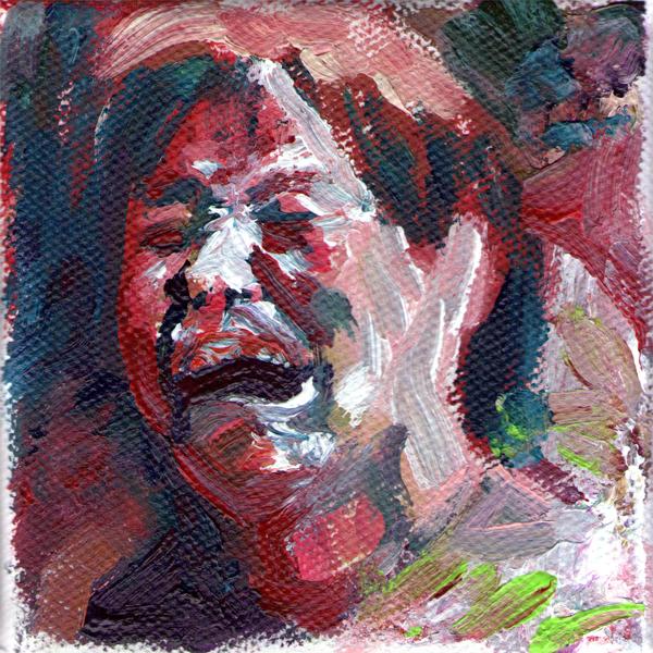 Emanuele Puzziello,  Stato di alterazione, acrilico su tela, 10x10, 2011 (4)