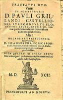 Tractatus de Lamiis Grillando
