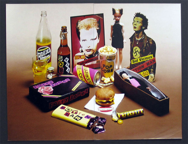 Jamie Reid, Some Product, 1979-1980, photographic print, (two halves) mounted on board, mm 297x384, Jamie Reid copyright Sex Pistols Residuals