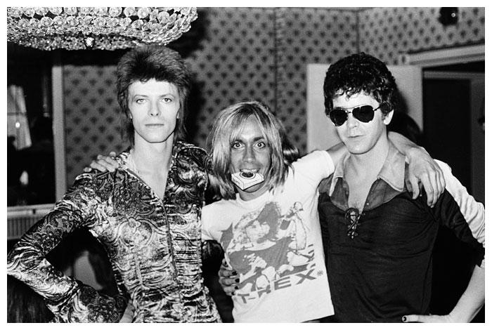 Mick Rock, Bowie, Iggy Po, Lou Reed
