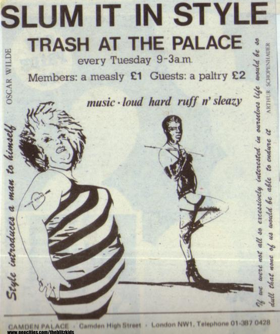 camdenpalace flyer via the blitz kids