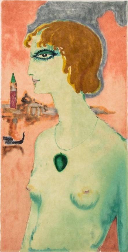 Marchesa Luisa Casati - 1921 - by Kees van Dongen