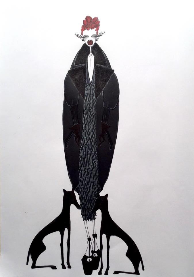 Marchesa Luisa Casati by Omar Nardi, 2015
