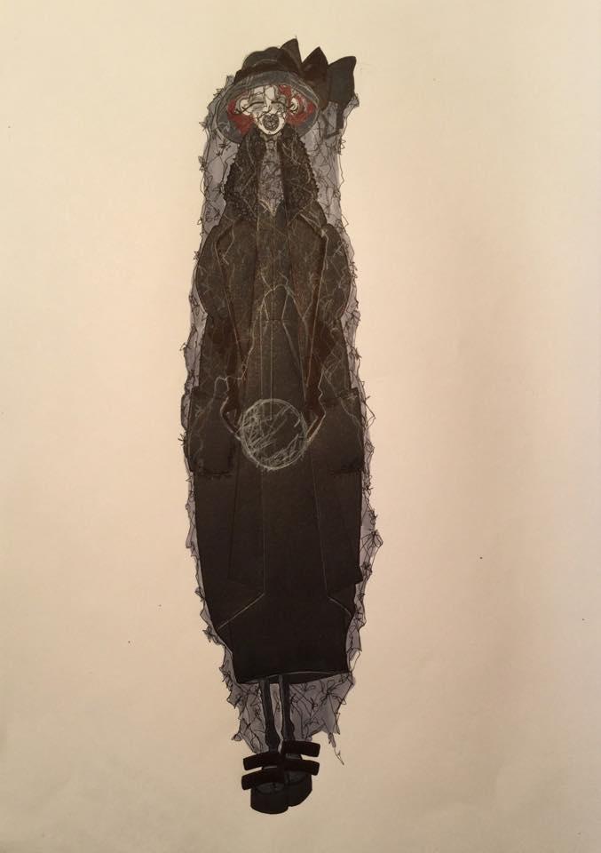 Marchesa Luisa Casati by Omar Nardi, 2015, 2