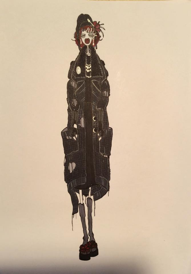 Old Marchesa Luisa Casati by Omar Nardi, 2015