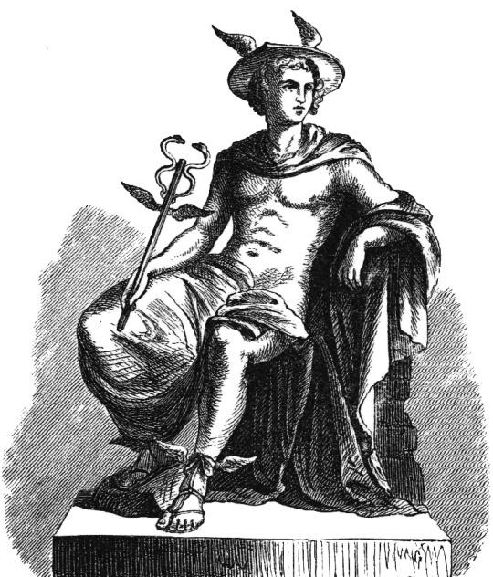 Mercury or Hermes, Alexander S. Murray, Manual of Mythology, 1895