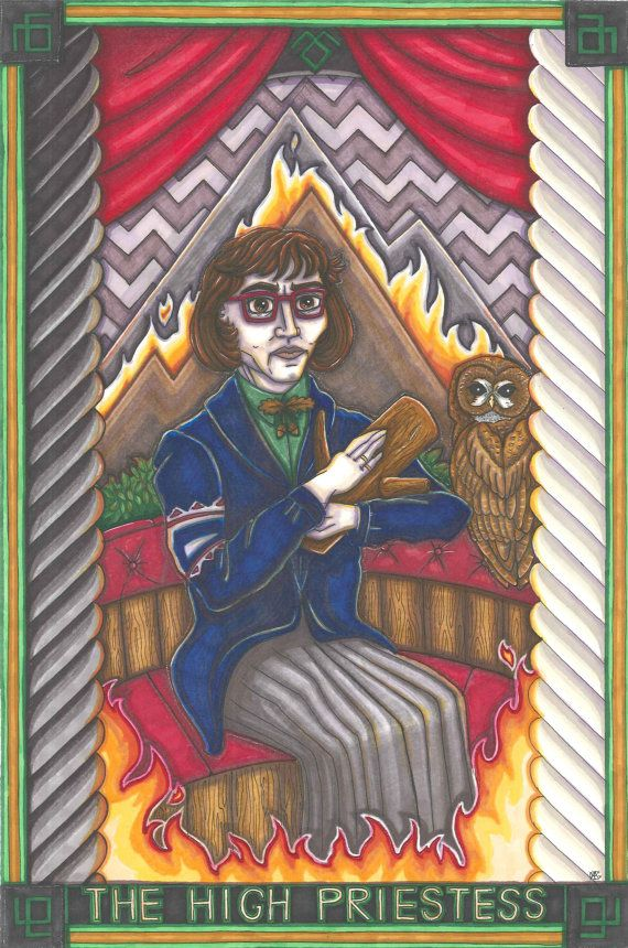 Twin Peaks Tarot Log Lady postcard PRINT by MaiafirePrints on Etsy