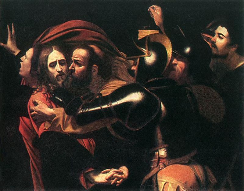 Caravaggio_-_Taking_of_Christ_-_Odessa, 1598