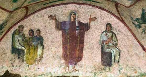Cubicolo della Velazio Catacombe Priscilla Roma