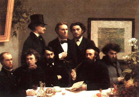 Henri Fantin-Latour, le coin de table, 1872. da sin verlaine, rimbaud