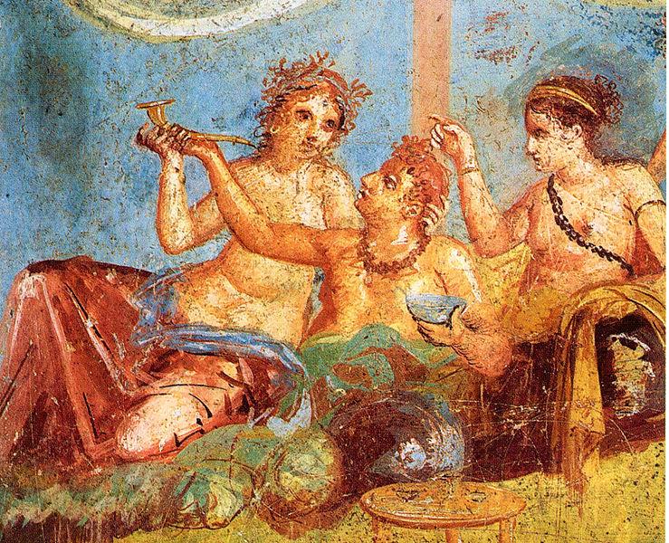 Pompei_-_Casa_dei_Casti_Amanti_-_Banquet