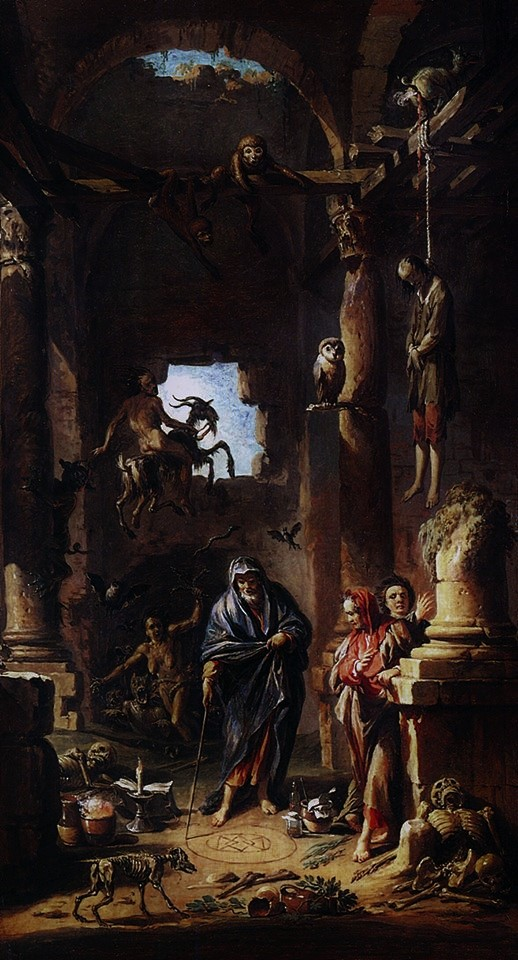 Scene of Magic (c.1741) by Andrea Locatelli