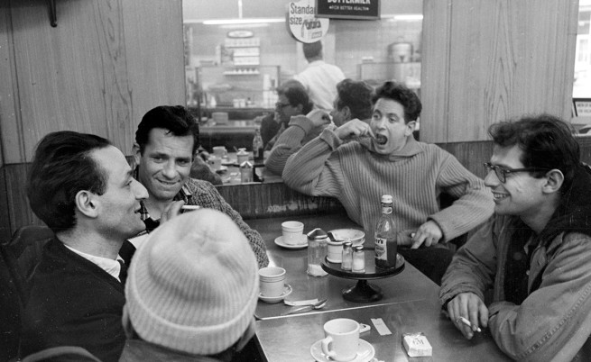 Larry Rivers,  Jack Kerouac, Dichter Gregory Corso, David Amram, Allen Ginsberg.