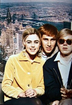 Edie Sedgwick, Chuck Wein, and Andy Warhol.